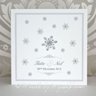 Snowflake Wedding Invitation